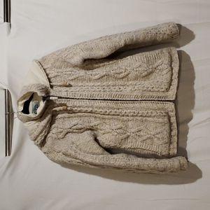 Womens Laundromat Handmade hooded sweater jacket